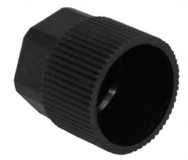 bild 1 produkt: Schraderhatt till Hög R134a i plast M8 x 1.0